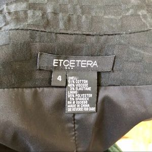 Etcetera Jackets & Coats - Black geometric textured coat by Etcetera